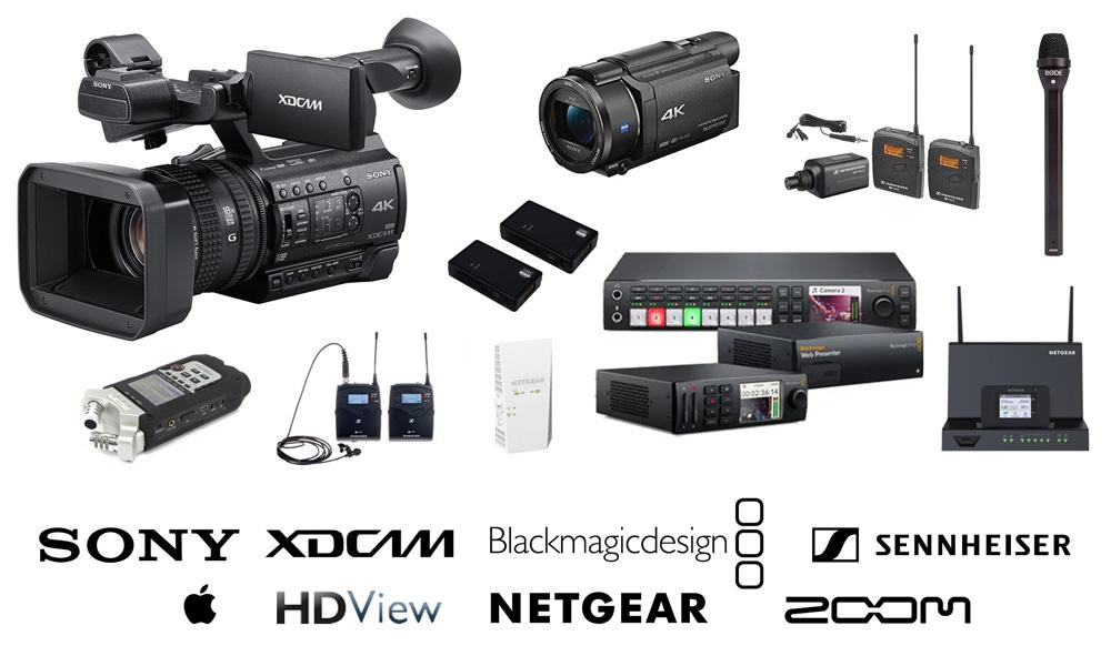 Notre agence est équipée de caméra XDCAM, mini caméra mobile, de micro-cravate et micro-main sans fil, enregistreur numérique, régie Blackmagic, solutions réseaux filaire, WIFI et 4G.