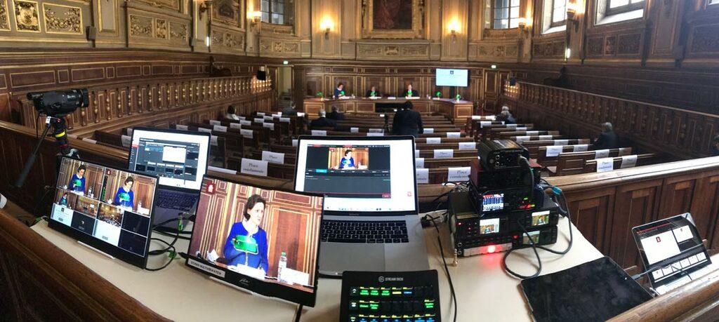 Captation live streaming à la Sorbonne