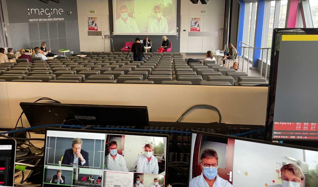 Conférence hybride live streaming